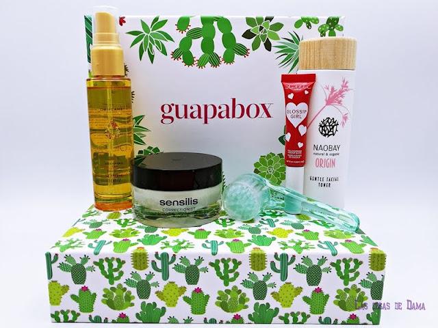 Guapabox Septiembre beautybox Sensilis Otoño Oriflame cuidado suscripción facial beter Naobay Lottie London