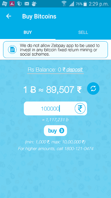 Zebpay buy bitcoins
