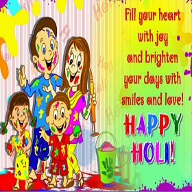 Family Happy Holi Images for Whatsapp DP
