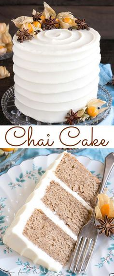 Chai Cake with Cream Cheese Frosting Recipe