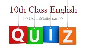 image: 10th Class English Quiz @ TeachMatters