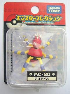 Ariado Pokemon figure Tomy Monster Collection MC series