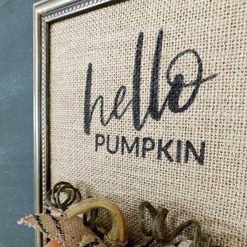 Unique DIY Hello Pumpkin Burlap Wall Art For Fall
