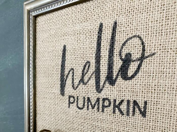 Repurposed Dollar Store Frame Hello Pumpkin Sign