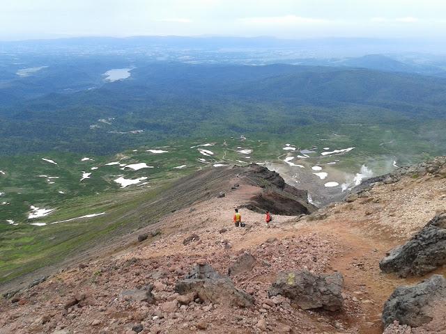 Vistas desde el volcán Asahidake en Hokkaido