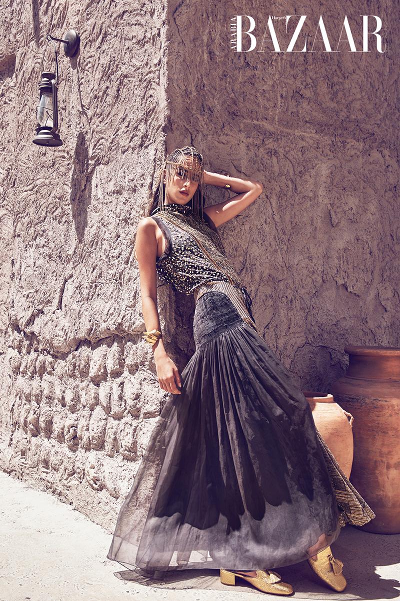 Taleedah Tamer in Arabian Traditional Dress