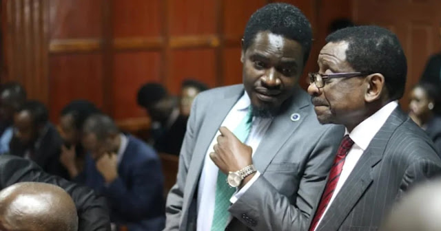 LSK President Nelson Havi with Sen. James Orengo