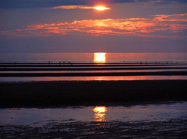 Sunset in Wellfleet, MA, bayside