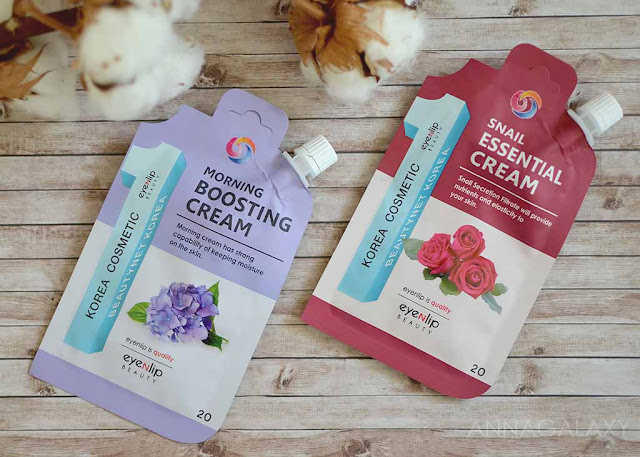 Отзывы о EyenLip Beauty Morning Boosting Cream и Snail Essential Cream