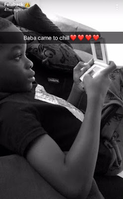 img 9155 - ENTERTAINMENT: Wizkid Chills With First Son Boluwatife As He Snubs His Other Kids (Photo)
