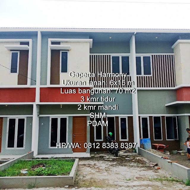 Gaperta Harmony Jual rumah murah minimalis 500 Juta 2 lantai lokasi sangat strategis di Jalan Banten Gaperta Ujung Medan