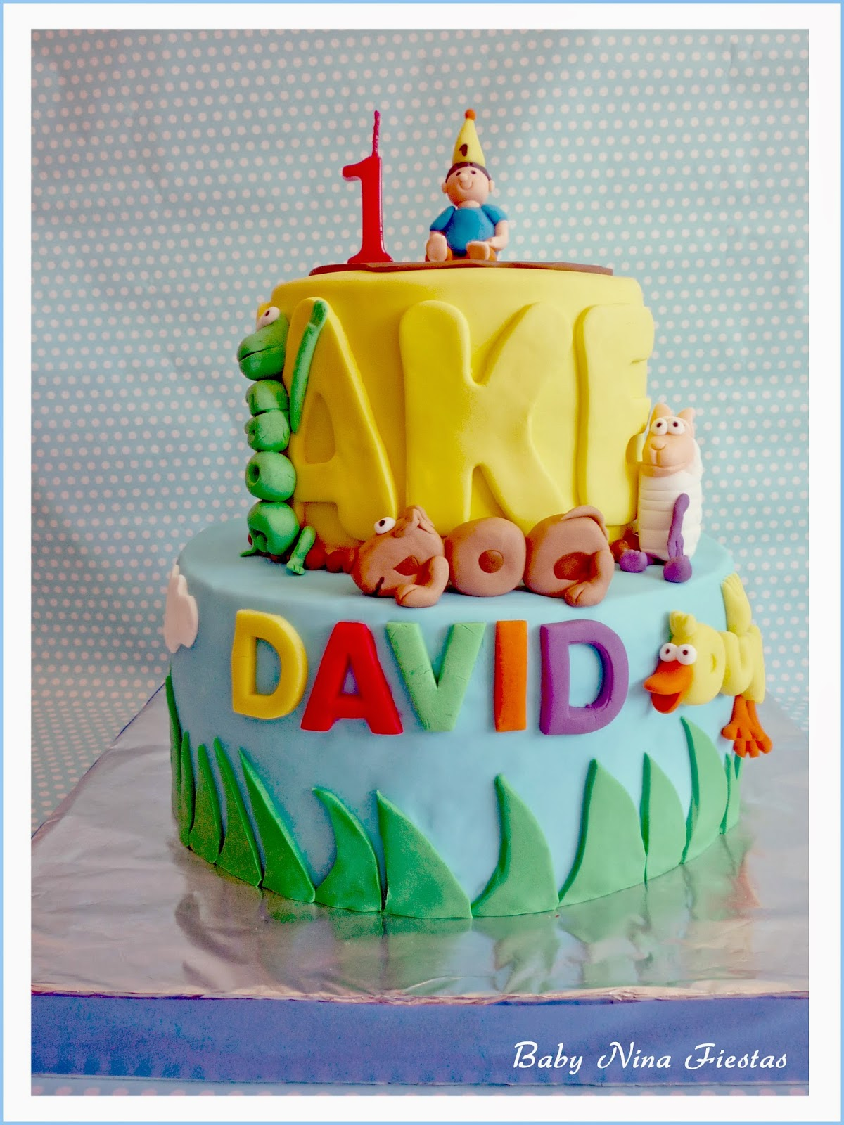 Tarta fondant Wordworld