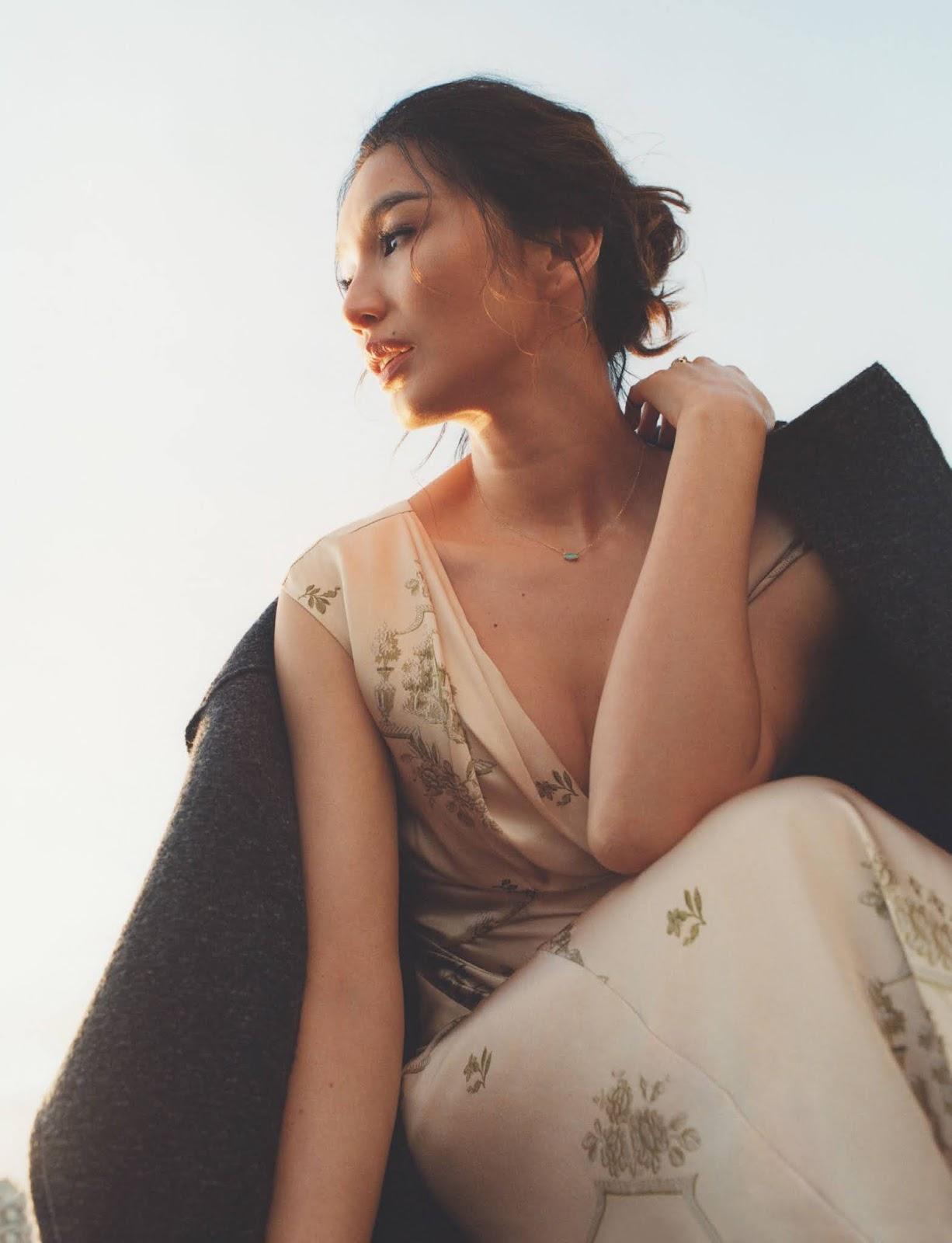 Gemma Chan in British Vogue September 2021 by Hanna Moon