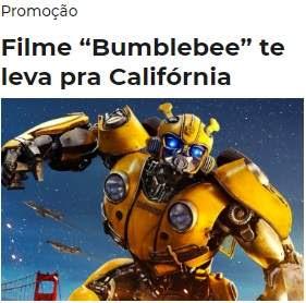 Cadastrar Promoção MIX FM Filme Bumblebee Te Leva Pra Califórnia - Viagem Estados Unidos