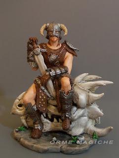 modellino guerriero fantasy matrimonio a tema statuette su ordinazione orme magiche