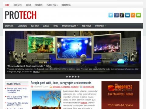 Free ProTech Fantastic Tech News WordPress Theme