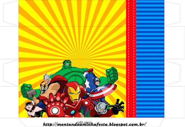 Cajas de Los Vengadores Comic para imprimir gratis.