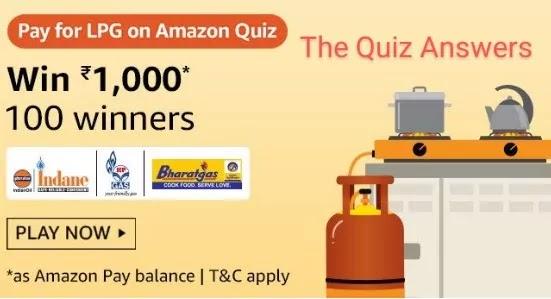 अमेज़ॅन Pay LPG क्विज़ अभी जीते - Rs.1,000 Amazon Pay Balance