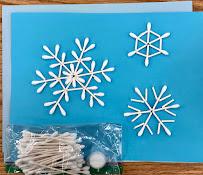 Snowflake Craft/STEAM activity