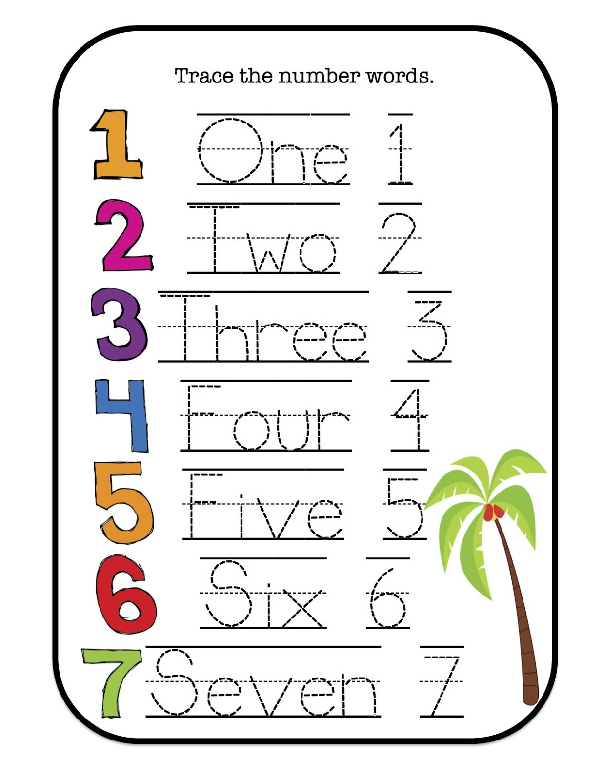 It is a graphic of Selective Number Words Printable