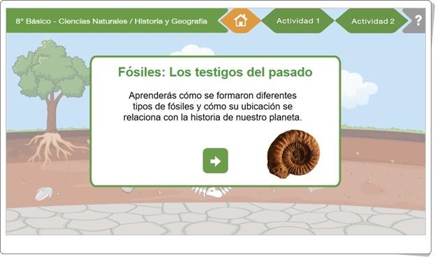 """""""Fósiles: Los testigos del pasado"""" (Actividad interactiva de Ciencias Naturales e Historia)"""