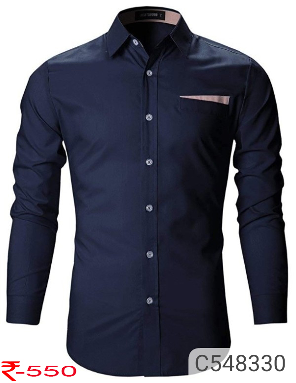 Cotton Solid Slim Fit Shirt