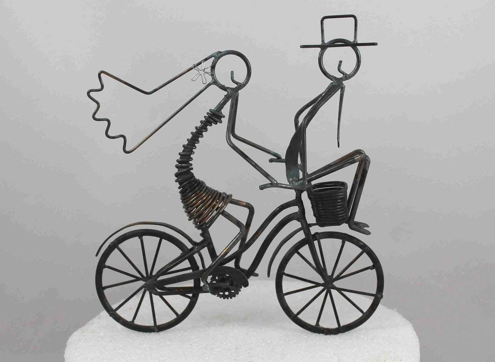 tandem bicycle wedding cake topper daryl s rock and wire works april 2013 20752