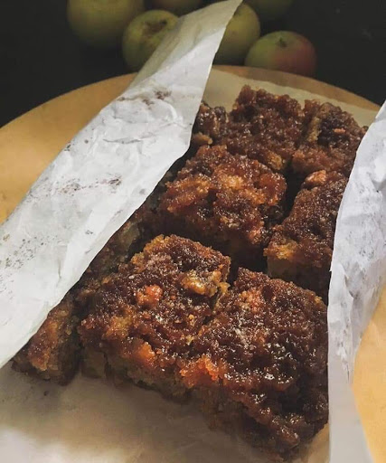 Apple Caramel Fudge Cake