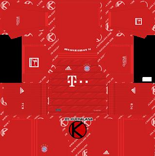 Yang akan saya share kali ini adalah termasuk kedalam home kits FC Bayern Munich 2019/2020 Kit - Dream League Soccer Kits