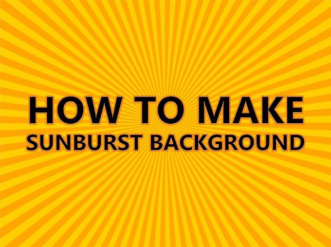 Cara Membuat Background Sunburst di Adobe Illustrator CC 2018