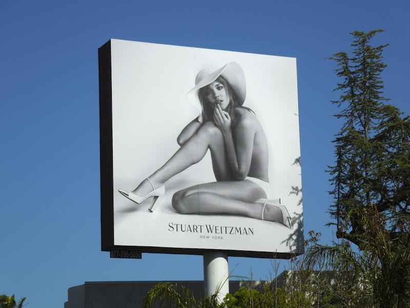 Stuart Weitzman shoes billboard Mar12