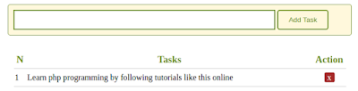 بناء قائمة المهام باستخدام php
