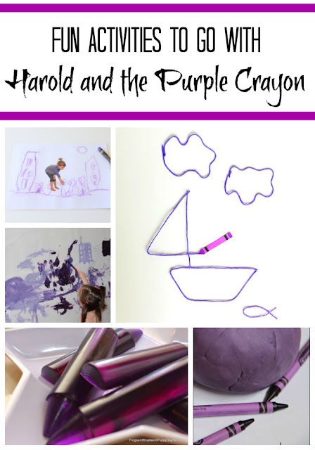 Playful activities for Harold and the Purple Crayon