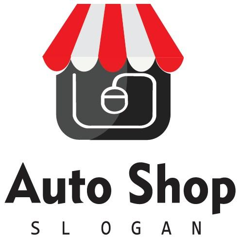 graphic design logo ONLINE SHOPING