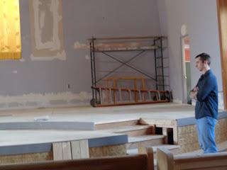 rebuilding the sanctuary at Beth Sar Shalom