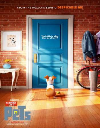 Poster Of The Secret Life of Pets 2016 ORG Dual Audio 120MB BRRip HEVC Mobile ESubs Free Download Watch Online downloadhub.net