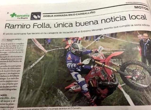 Ramiro Folla, única buena noticia local.