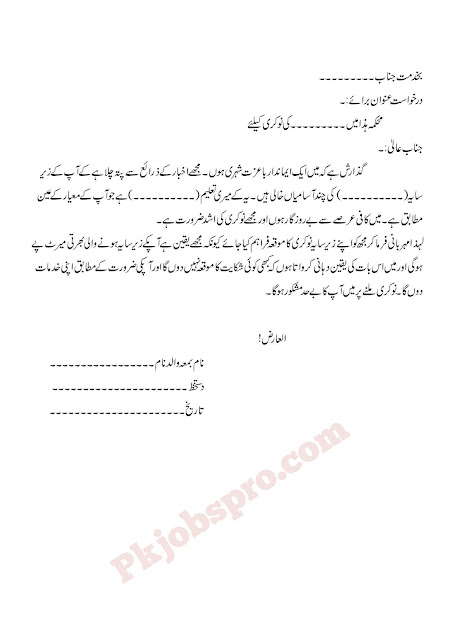 How To write Application form Government jobs