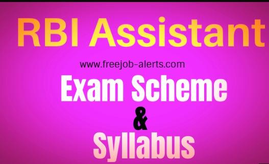 RBI Assistant Syllabus 2020
