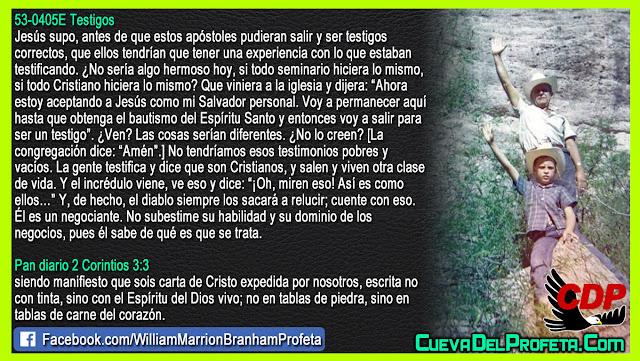 Testimonios pobres y vacíos - William Branham en Español