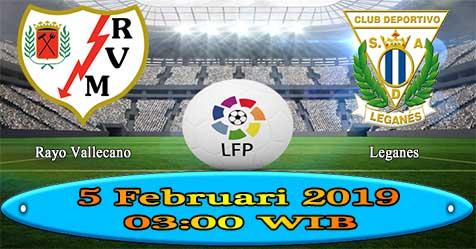 Prediksi Bola855 Rayo Vallecano vs Leganes 5 Februari 2019