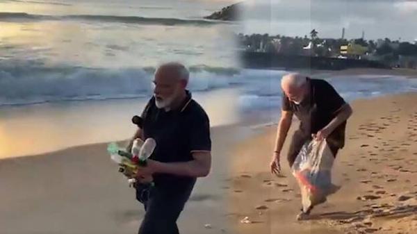 Watch: PM Modi Goes Plogging On Mamallapuram Beach Before Meet With Xi, Chennai, News, Politics, Lifestyle & Fashion, Video, Prime Minister, Narendra Modi, Twitter, National