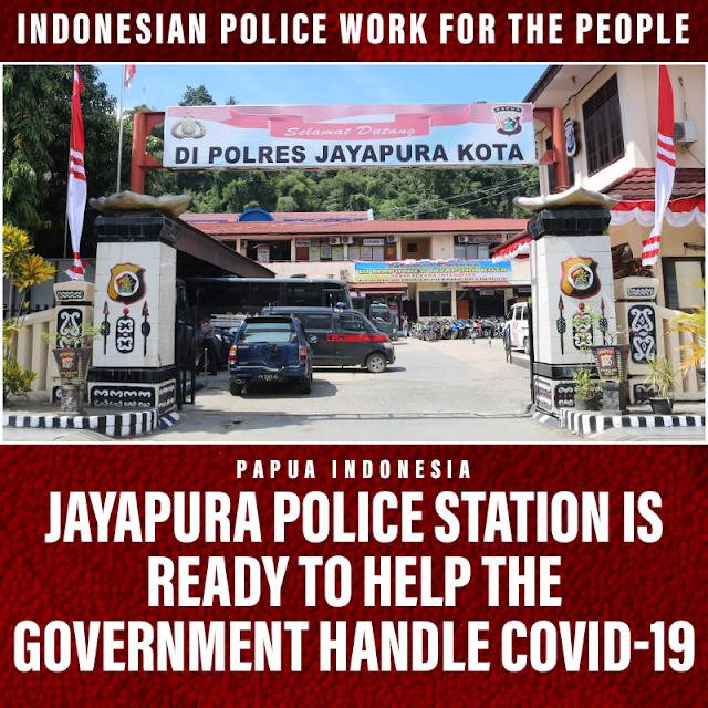 Jayapura Regional Police Ready to Help the Government in Handling Covid-19