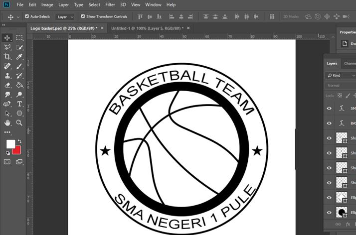 Tambahkan asesori untuk mempercantik logo