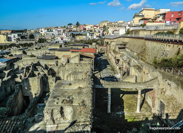 Ruínas da cidade romana de Herculano, Itália