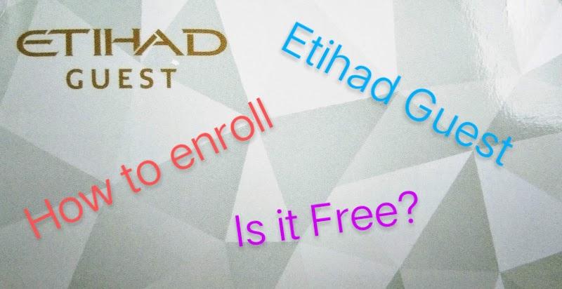 Etihad Guest - Enrollment