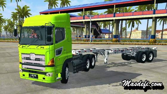 mod truck hino 700 flat trailer