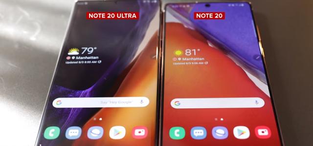 Spesifikasi Samsung Note 20 dan 20 Ultra