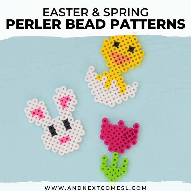 Spring and Easter perler bead patterns