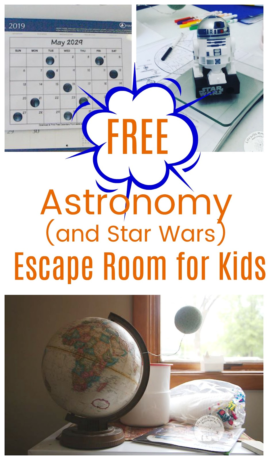 graphic relating to Free Escape Room Printable named How toward Fixed Up an Astronomy Escape House with Cost-free Printables